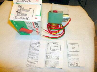 ASCO VALVE PN# 8262G001   120VAC COIL  NEW IN ORIGINAL PACKAGING
