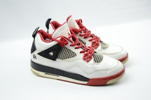 buy popular e0b8d 9c637 Image is loading Nike-Air-Jordan-IV-4-Retro-White-Red-