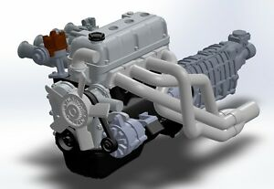 Details about 1/24 Resin Engine Toyota 3TC