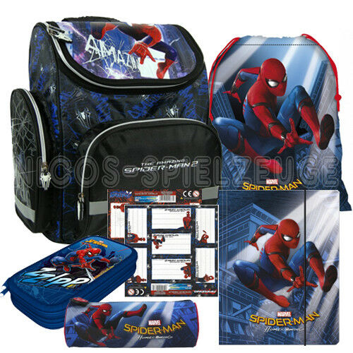 Spiderman Marvel Spinne Schulranzen Tornister Ranzen Set 6 teilig   Bekannt für seine gute Qualität    Bekannt für seine gute Qualität    Mittlere Kosten