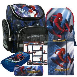 1e6a56184c550 Das Bild wird geladen Spiderman-Marvel-Spinne-Schulranzen-Tornister-Ranzen- Set-6-