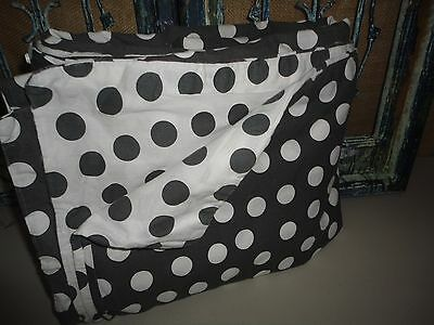IKEA STENKLOVER  GRAY & WHITE POLKA DOTS (1PC) FULL DUVET