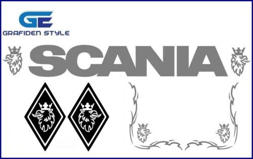 Sticker Fahrerhaus Aufkleber 1 Set SCANIA Decal ! 5 Stück