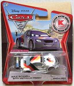 Disney Pixar Cars 2 Kmart Exclusive Max Schnell With Metallic Finish