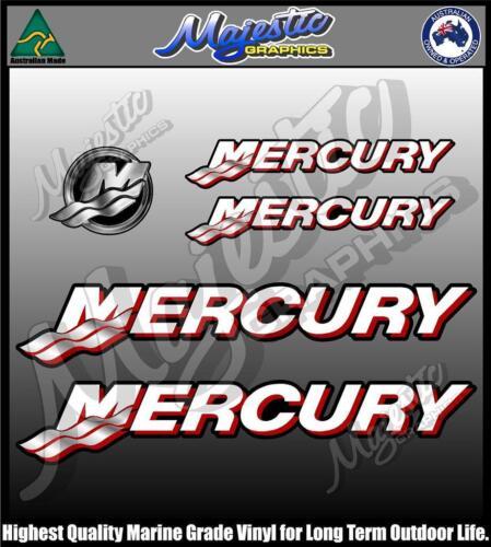 MERCURY OUTBOARD DECALS Set of 5 Decals Suit Modern Mercury