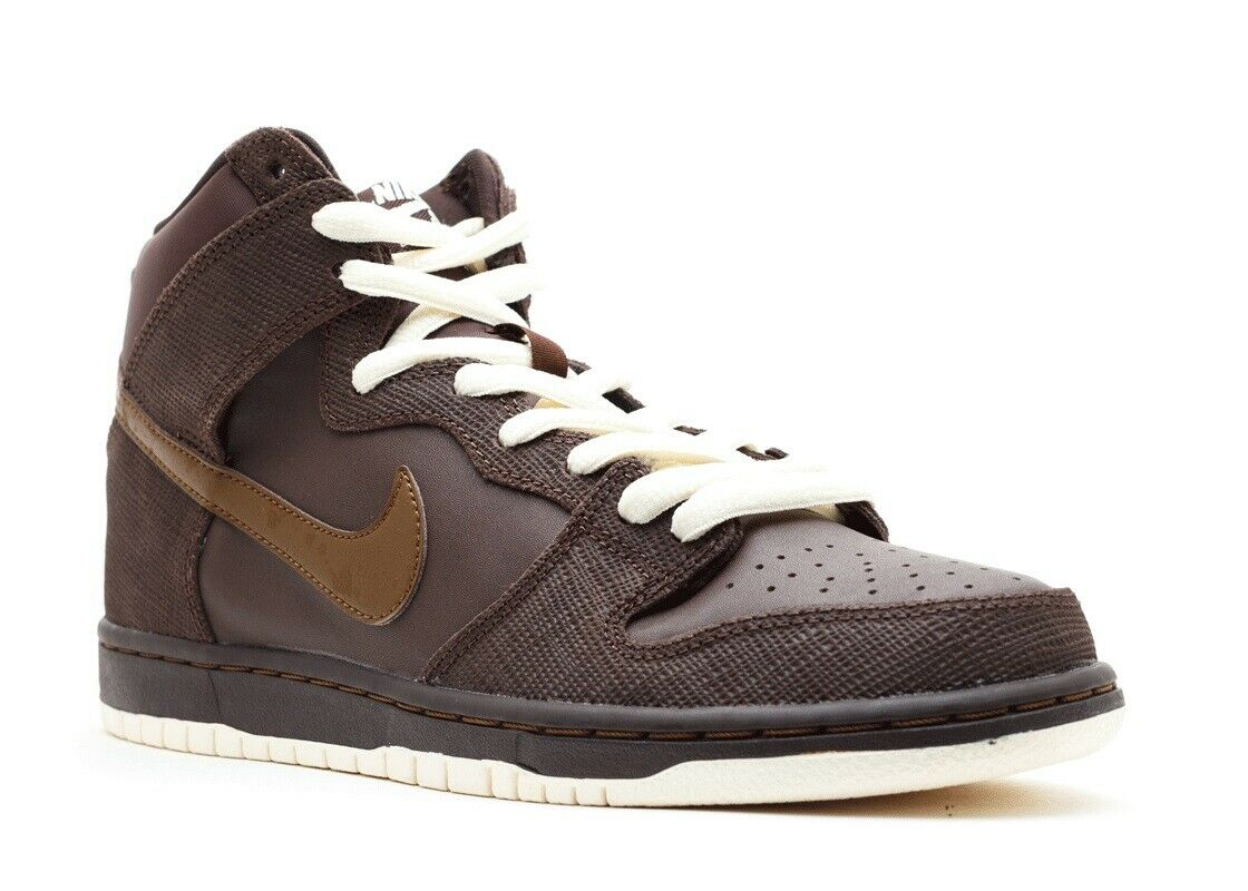 Nike SB Men's Dunk High Pro SB Size 8 NEW 305050-224 Baroque Brown Dark Khaki