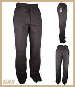 Gas-Pantaloni-uomo-eleganti-invernali-pantalone-gamba-dritta-vita-alta-classico