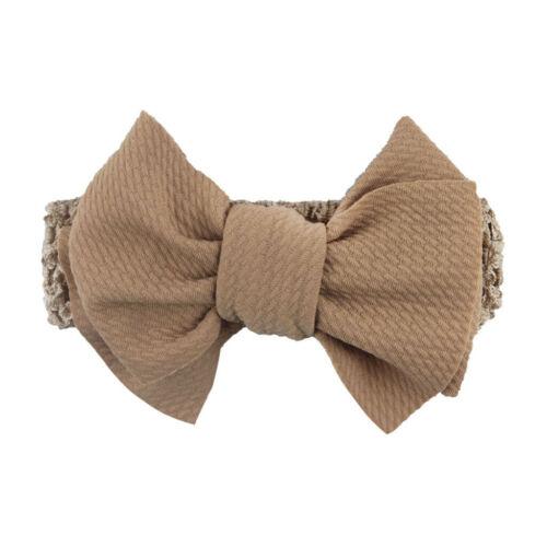 Handmade Baby Girl Large Bow Headband Infant Toddler Knot Hair Band Head Wrap LI