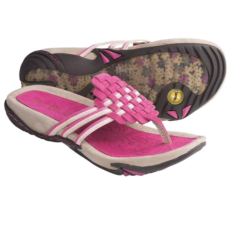 New Jambu Flip Leaf Leather Thong Sandals Flip Jambu Flops MSRP $90 01995a