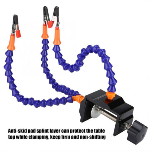 3//5 Helping Hands Tool Flexible Arms Soldering Station PCB Holder Desk Clamp