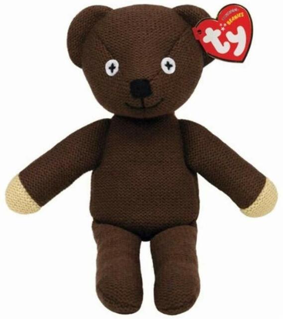 "Mr Bean Teddy Bear Beanie Soft Plush Toy - TY UK 8"" Traditional Retro 46179"