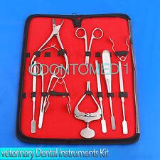10 X Veterinary Dental Instruments Mouth Gag Molar Cutters Cheek Teeth Dilator