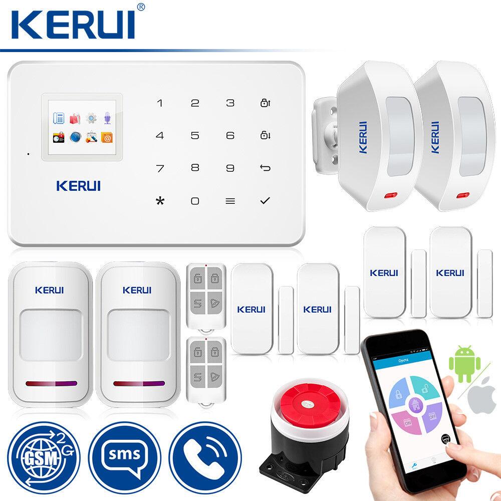 KERUI G18 GSM sensor de movimiento alarma sirena inalámbrica alarma de seguridad