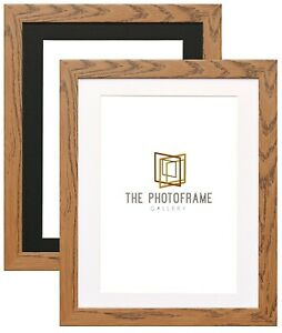 Dark-Oak-Picture-Frame-With-Mount-Photo-Frames-Wood-Effect-Picture-Frame-Various