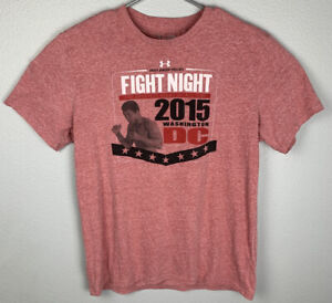 Under-Armour-Fight-Night-Muhammad-Ali-Shirt-Heathered-Red-Mens-XL-Extra-Large