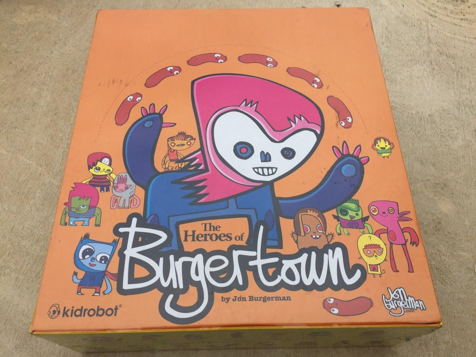 Kidrobot  The Heroes Of Burgertown  Mini Figures 2008, John Burgerman - FULL BOX