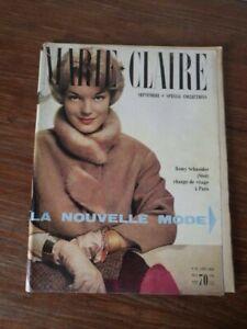 Intelligent Magazine Marie Claire Nr 47 Septembre 1958 Romy Schneider Nouvelle Mode RafraîChissement