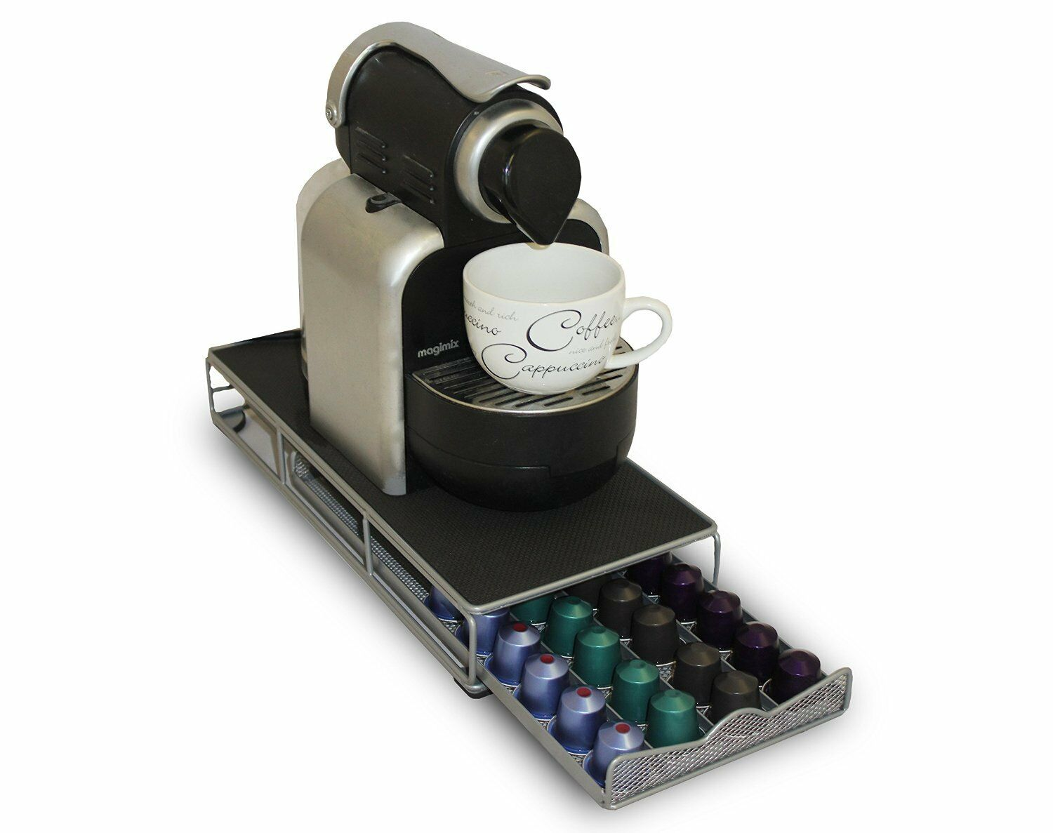48 pod nespresso coffee capsule holder storage dispenser machine stand drawer ebay. Black Bedroom Furniture Sets. Home Design Ideas