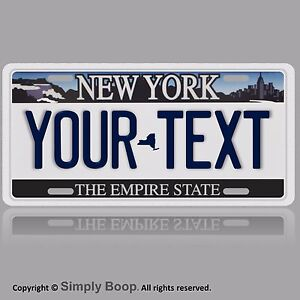 New York ANY TEXT Your Personalized Text Aluminum Vanity