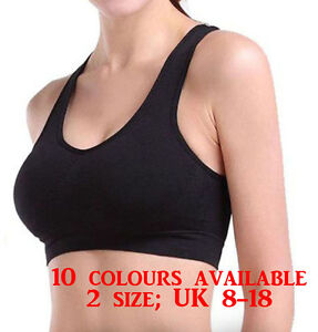 Womens Ladies Seamless R Ahh Padded Bra Leisure Top Vest Sports Yoga ... 4a50b005e
