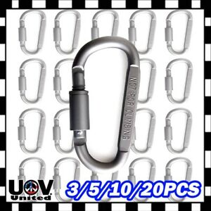 20-x-Ideal-Aluminum-Carabiner-D-ring-Key-Chain-Keychain-Clip-Hook-Buckle-Outdoor