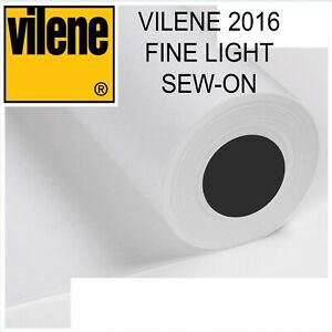 Vilene 2016 Fine Light Sew-On Interfacing - per metre