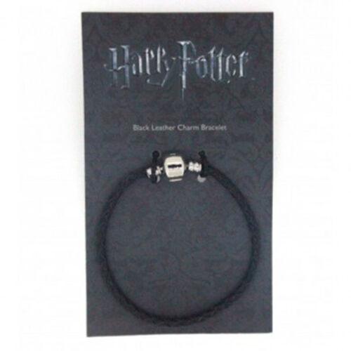 Offiziell Harry Potter Versilbert und Leder Bettelarmband Für Schieber Charms