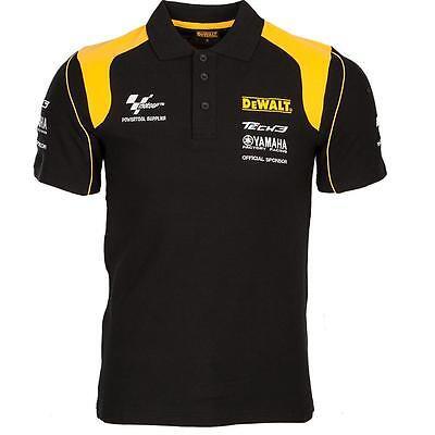 Dewalt Genuine Tech 3 Polo Shirt Dewalt Logo MotoGP Yamaha Racing Size M & XL