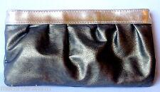 Sisley Paris Makeup Bag Bronze Faux Leather Gold Pink Cosmetic Case Clutch Pouch