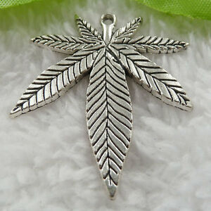 50pcs 20mm Charms Maple Leaf Pendant Tibet Silver DIY Jewelry Making Craft A7621