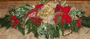 Christmas-Cemetery-Tombstone-Saddle-Headstone-Spray-Decoration-Grave-Flowers