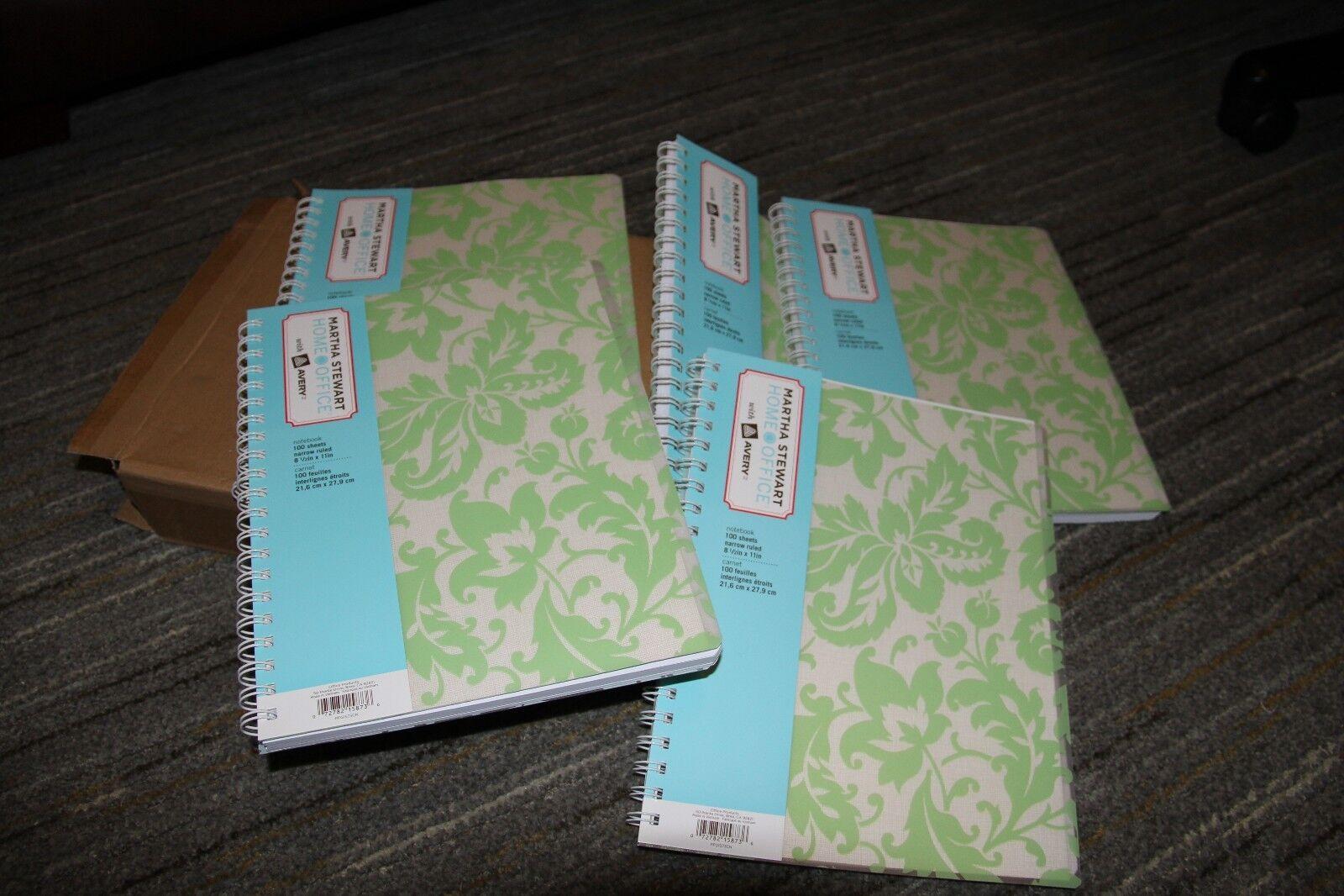Martha Stewart Home Office Avery Damask Spiral Notebook 8-1 2  x 11  Lot of 5