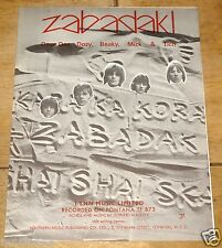 DAVE DEE DOZY BEAKY MICK TICH ~ ZABADAK ~UK VINTAGE SONG SHEET MUSIC SHEET 1967