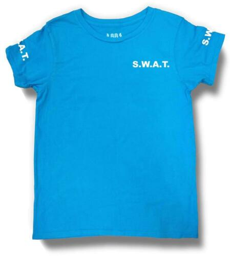 NW YOUTH KID GIRL BOY HALLOWEEN SWAT S.W.A.T POLICE FUNNY COTTON CUSTOM T-SHIRT