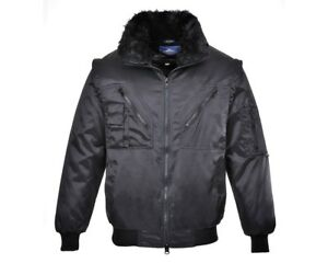 44 Large Showerproof Mens Black 42 Jacket Portwest Pilot npw0qxUpX