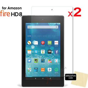 2x CLEAR Screen Protector Covers for Amazon Fire HD 8 Tablet (All Generations) 5055782967657