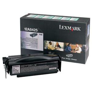 Original-Lexmark-12a8425-Cartouche-D-039-Encre-pour-T430-T430D-T430DN-Neuf-B