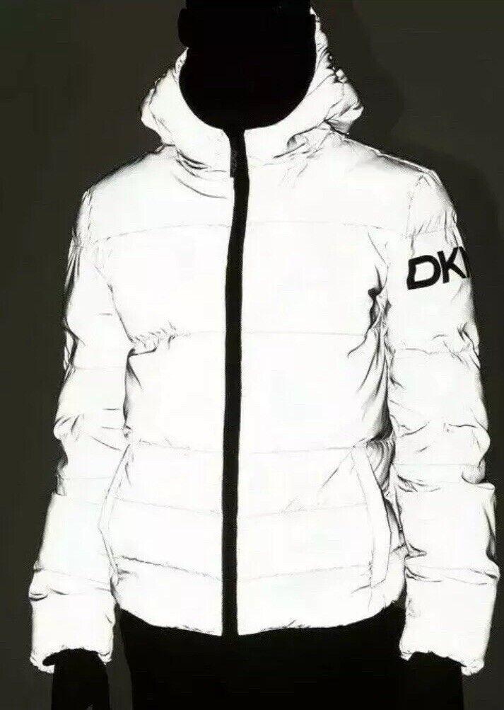 New DKNY Men's Reflect Puffer Jacket grau Medium Medium Medium NW with Tags M Glow In Dark 862
