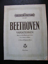 Partition Beethoven Variations Hautbois Cor Anglais Music Sheet