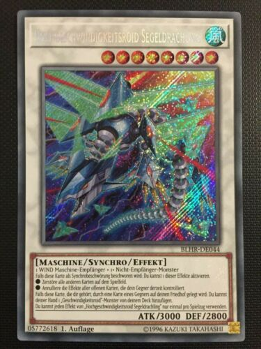 Hochgeschwindigkeitsroid Segeldrachling BLHR-DE044 NM 1st Secret Rare YUGIOH!