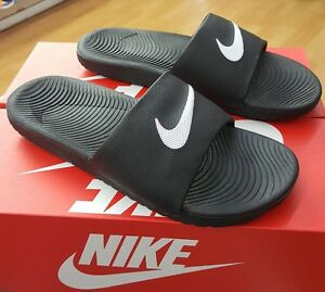 03cacb78d154d1 NIKE KAWA SLIDE 832646 010 BLACK WHITE MEN US SZ 10 887224436590