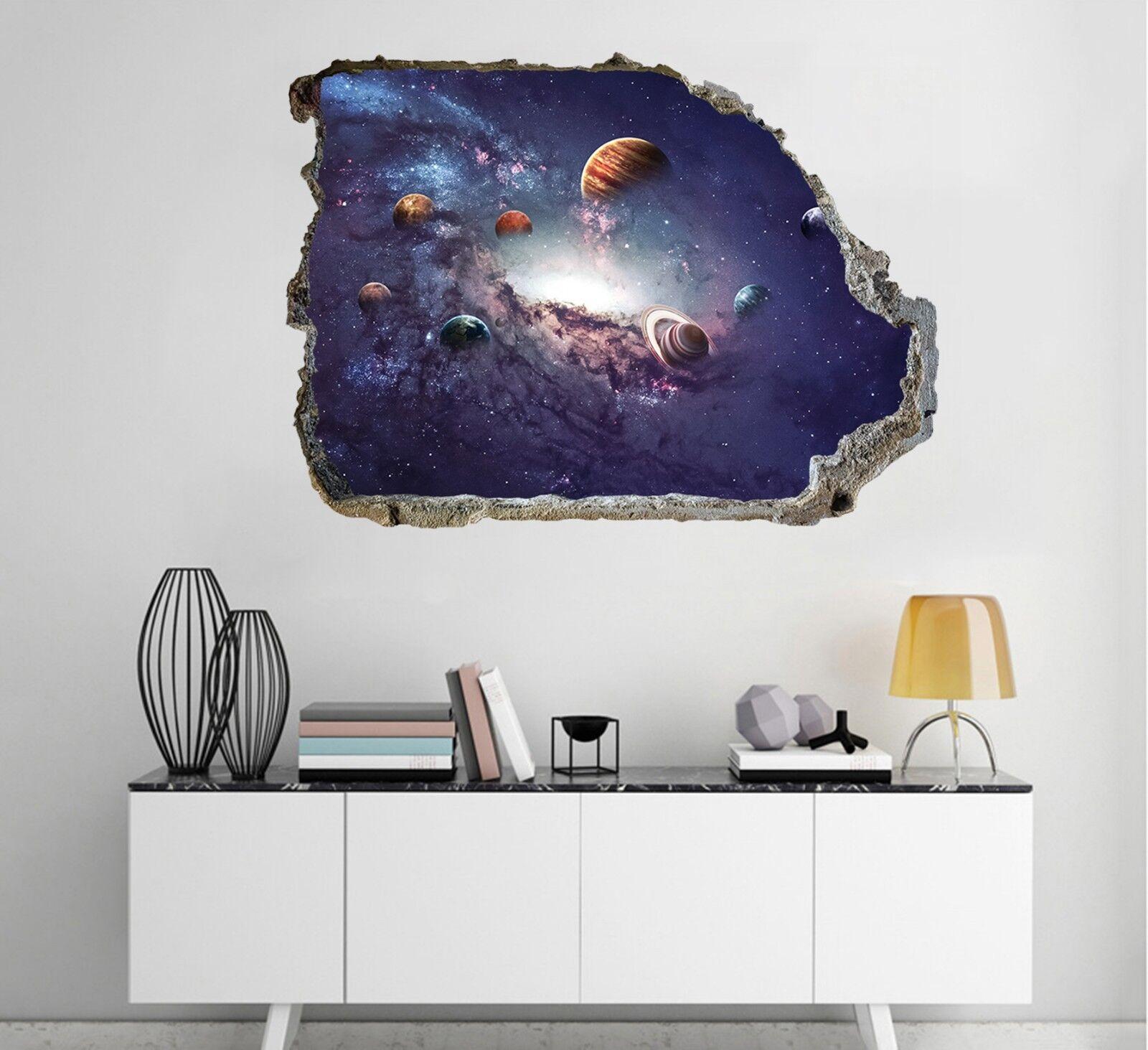 3D Raum Planeten 24 Mauer Murals Mauer Aufklebe Decal Durchbruch AJ WALLPAPER DE