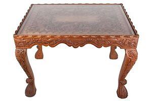 Geschnitzter Holztisch Indien 20 A Carved Wood Table Northern India Inde Ein Unverzichtbares SouveräNes Heilmittel FüR Zuhause Jh