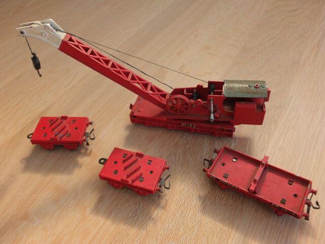Hornby Dublo 4620 - Red Breakdown Crane No133 Set - OO Gauge