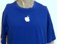 Apple Store Blue Employee Shirt Blue Embroidered Logo Size XL Mac Jobs Computer