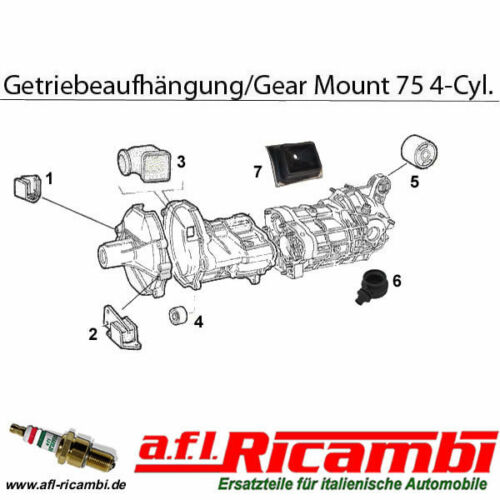 Getriebelager hinten-rear gearbox mount Alfa 75 1,6//1,8//2,0//2,0 TD Bj.1985-1992