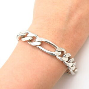 """925 Sterling Silver Italy Elongated Link Anklet 9.5/"""""""