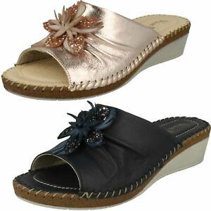 Ladies-Van-Dal-Wedge-Heel-Mule-Sandals-039-Banks-039