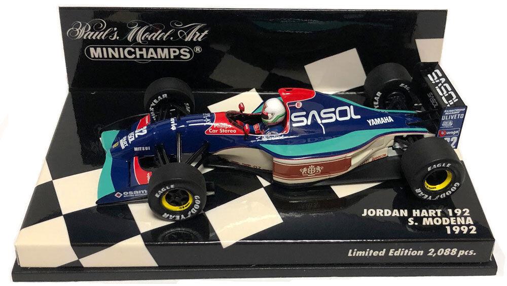 Minichamps Jordan Hart 192 'Sasol' 1992 - Stefano Modena 1 43 Scale