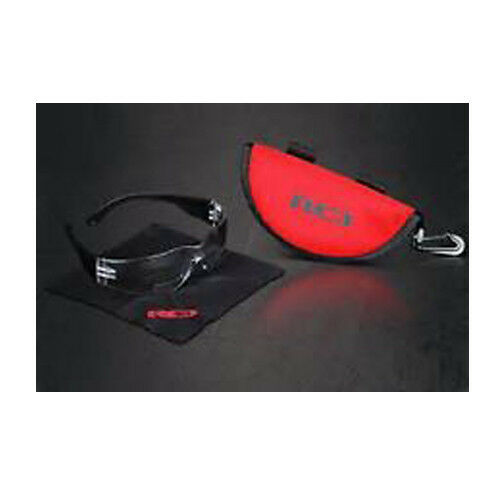RED-PRO BI-FOCAL SAFETY READING GLASSES SPECS - WITH CASE & CLOTH - SPORT